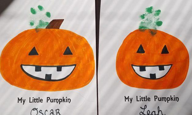 Halloween Pumpkin Dog Craft